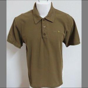 Sz XL Brown Oakley MENS Cotton #08F Polo